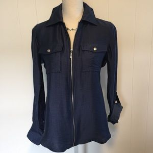 NWT Peck & Peck blue top size small.
